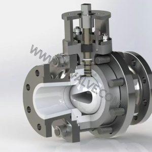 High performance v port ceramic ball valve