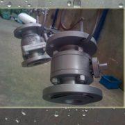 3 pcs flange type ball valve