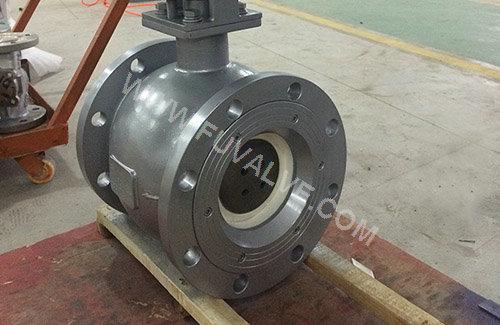 ceramic lined halve ball valve