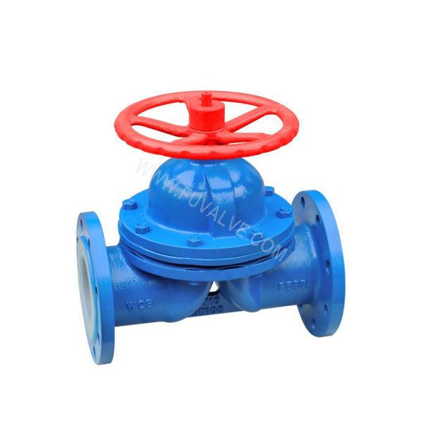 Fluorine lined diaphragm valve (1)