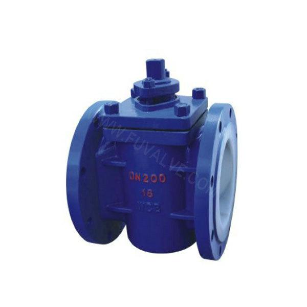 FEP lined plug valve
