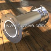 Ceramic lined pipes for abrasive applications