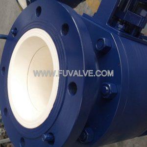 DN200 Ceramic lined ball valve