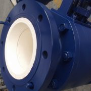 8″ V port ceramic ball valve
