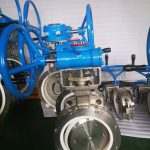 Ceramic butterfly valve for fly ash