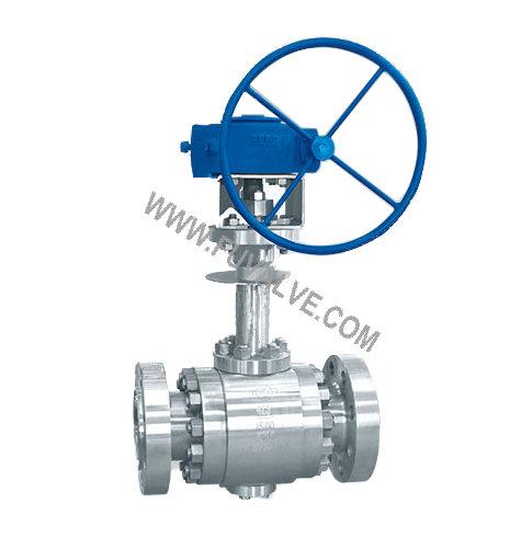 Side entry cryogenic ball valve