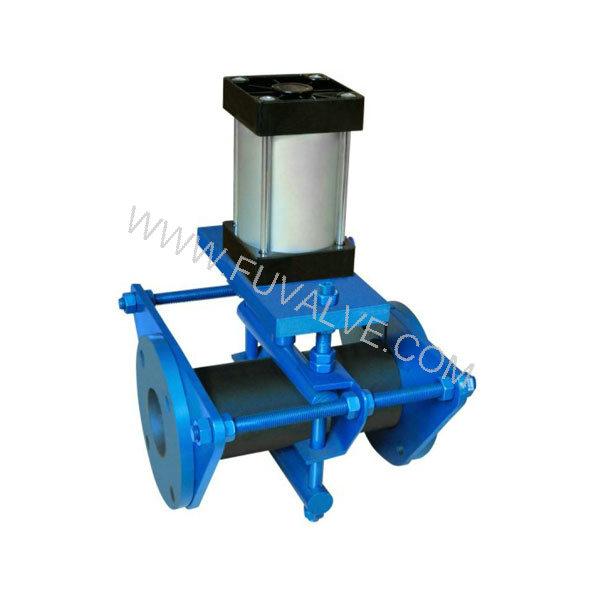 Open frame Pneumatic pinch valve (2)